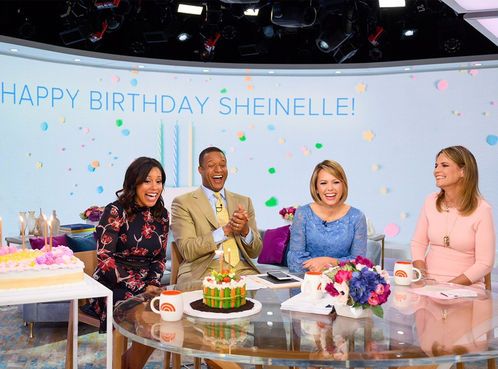 Sheinelle Jones -  During the third hour of  TODAY , the morning show co-host is surprised by a cake and a video of personal  messages  from family and friends.