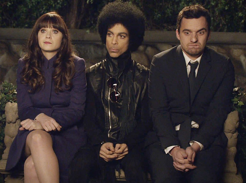 "Prince Meets Jess -  In 2014, Prince made a legendary cameo in an episode of  New Girl 's third season. As it turned out, the Fox sitcom was a favorite of his and he had his people reach out to star  Zooey Deschanel  to make the appearance happen. ""I got a cold email from his manager, and it was like the most on-brand Prince email ever—like too on-brand. It was like, 'Hello, I am manager to legendary artist Prince. He is loving the show  New Girl . He would like 2 B'—you know, like, 2 B—'on the show.' And I'm like, 'This has to be a prank. There's no way!'"" she told  Jimmy Kimmel  in 2018. ""But I had several people check it out. It turned out it was his manager. You know, you never know. When you put stuff out there, you're in the entertainment business, you never know who might just be flipping channels and find your show. And randomly, Prince found the show, and he was watching it every week with his band, and they'd watch it on tour, and it was like he couldn't miss it, and they were really invested in the Nick and Jess relationship. It was just one of those really surreal moments.""  ""It was a highlight of my whole life,"" she added. ""It was amazing just to get to hang out with him. To the very last second, we weren't sure if he was going to come to set...We were like, 'I hope he's the type that shows up'...We had no back-up plan, but he showed up. He was awesome. He was such a pro...A good actor and very kind of chill all the time. Such a cool guy."""