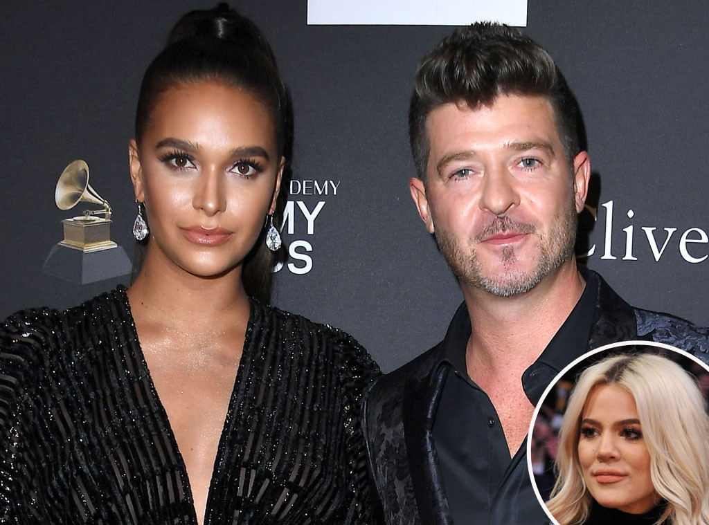 Robin Thickes Fiancee Reacts To Her Man Hugging Khloe -2385