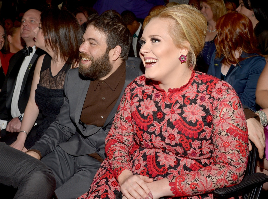 "Darlings -  The duo makes another rare appearance at the 2013 Grammys, where Adele is honored for her performance of ""Set Fire to the Rain."""