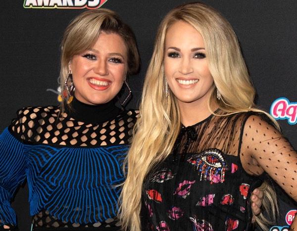 Kelly Clarkson Shuts Down Carrie Underwood Feud Rumors