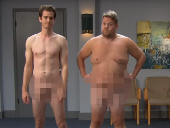 Andrew Garfield and James Corden Strip Down for NSFW <i>Game of Thrones</i> Audition