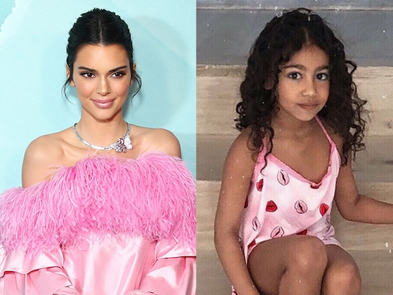 Kendall Jenner Appears to Have Borrowed North West's Fabulously Feathery Top