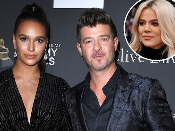 Robin Thicke's Fiancée Has the Best Response to Her Man Getting Close to Khloe Kardashian