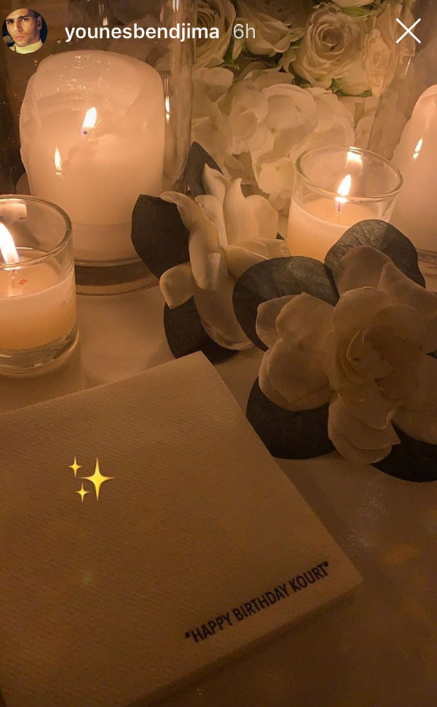 Bendjima Is Back -  Kourt's ex-boyfriend was a guest, as evidenced by a photo he posted of a napkin at the soirée.