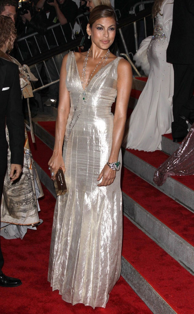 Eva Mendes -  Before she fell in  Crazy, Stupid, Love  with  Ryan Gosling , this actress was stuntin' at the Met Gala.