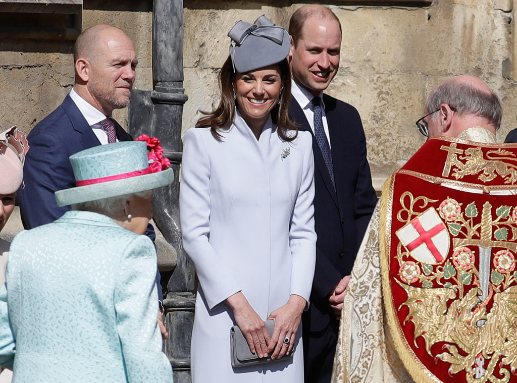 Prince William, Kate Middleton, Mike Tindall, Queen Elizabeth, Easter Sunday Service
