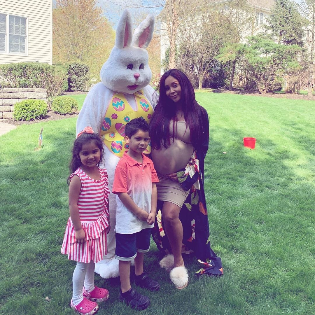 """Nicole """"Snooki"""" Polizzi -  2019 marks the last Easter as a mama of two for this expectant Jersey Shore  star."""