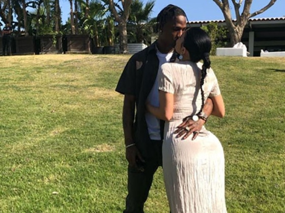 Kylie Jenner and Travis Scott Aren't Shy About Their Love During Kanye West's Sunday Service