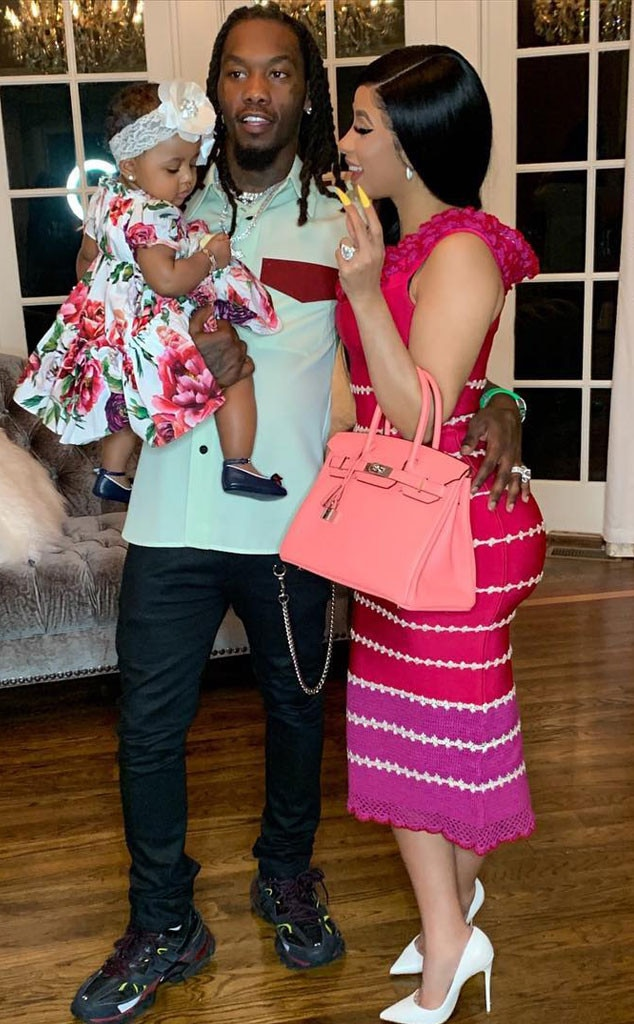 """Cardi B, Offset & Kulture -  Cardi B and Offset's daughter Kulture enjoys her first Easter not long after  saying the word  """"dada,"""" which Offset documented."""
