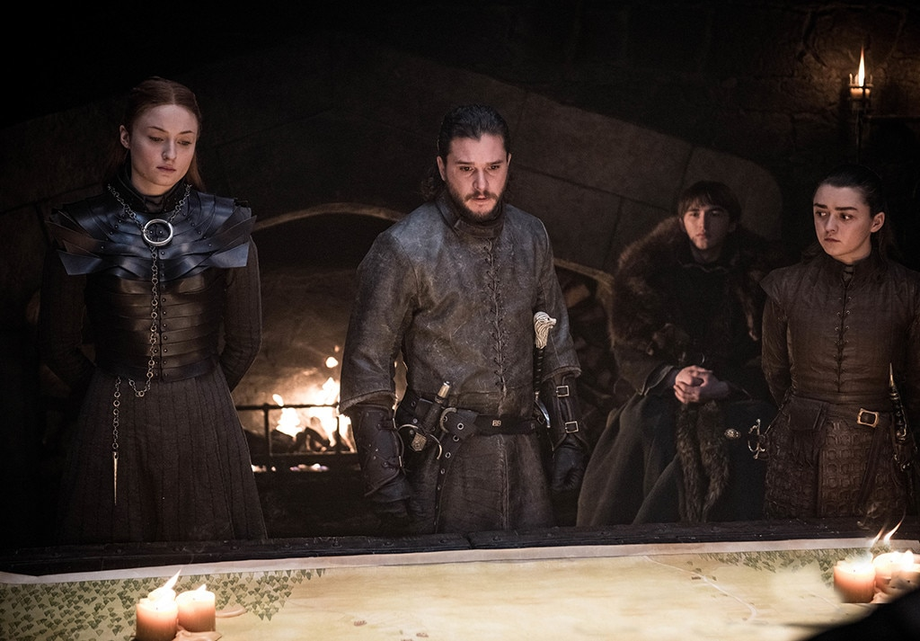 """Sophie Turner on Sansa's Ending -  Sansa was named Queen in the (newly independent) North at the end of the finale, and of everything that happened towards the of the series, that one thing probably made the most sense to all of us.   """"I loved it. It's the only place that she really, truly feels safe,"""" Sophie Turner told  The New York Times ."""