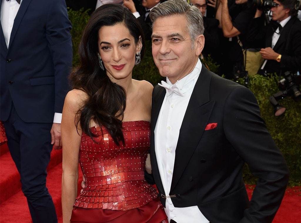 Finally Off the Market - George Clooney  and  Amal Clooney  made their Met Gala debut in 2015, effectively ending the A-list actor's run as Hollywood's most eligible bachelor. It also marked the first time the couple stepped out as newlyweds following their Sept. 2014 nuptials, which took place in Venice, Italy—naturally.