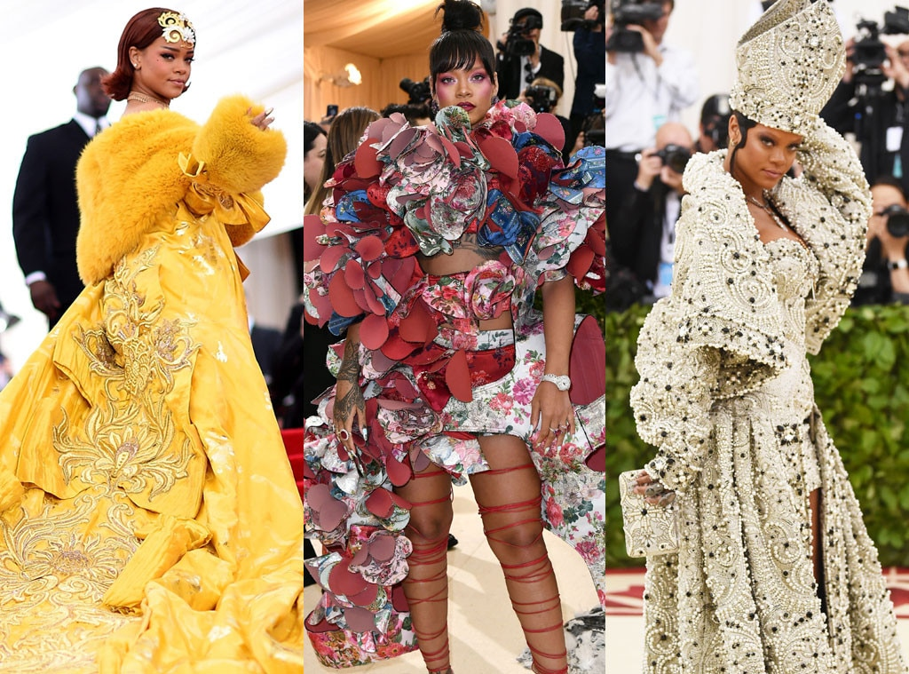 Rih-Diculous -  Let's keep this short and sweet, shall we? Each and every time Rihanna  ascends the iconic steps of the Metropolitan Museum of Art, a moment in Met Gala history is made.