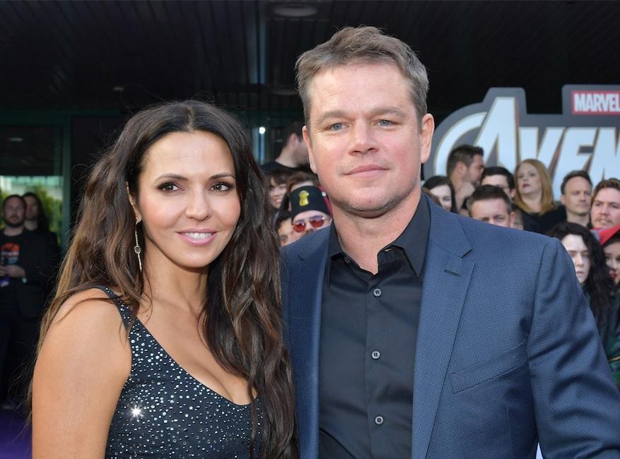 Luciana Barroso, Matt Damon Avengers: Endgame Premiere