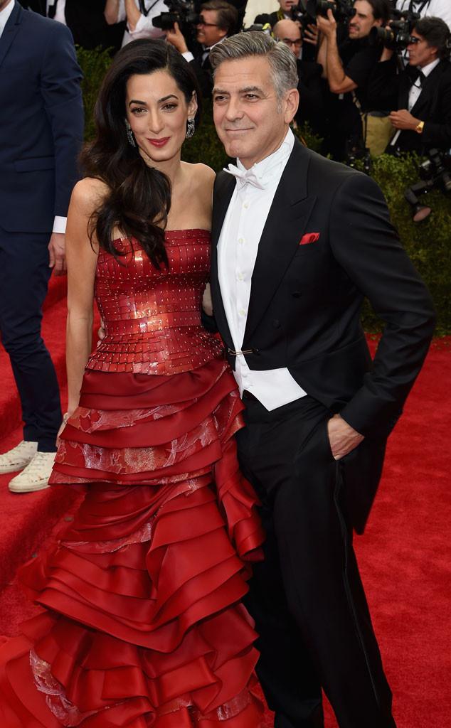 Amal Clooney, George Clooney, Met Gala 2015