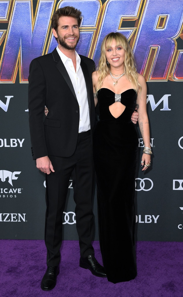 Liam Hemsworth & Miley Cyrus -  This A-list couple (and Miley's new hairstyle) bangs!  But as for the pop singer's Old Hollywood style gown, fashion credits go to YSL.