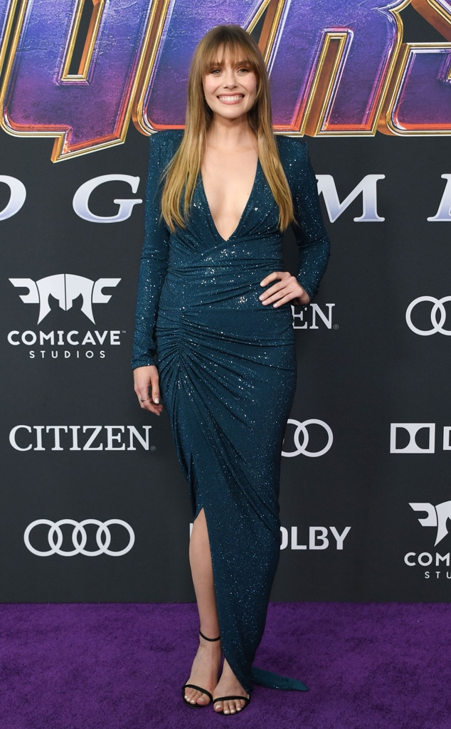 Elizabeth Olsen -  The Scarlet Witch goes glam for the  Avengers: End Game  premiere.