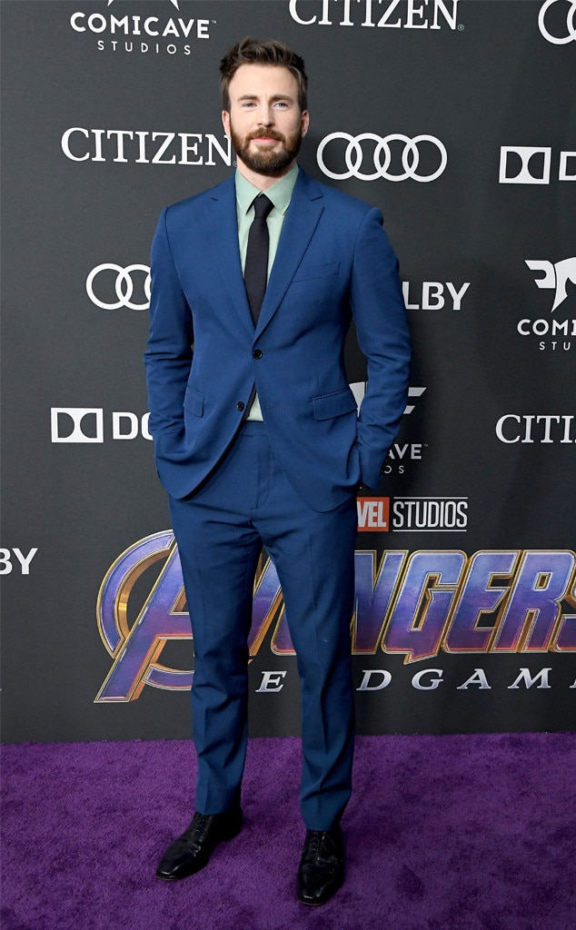 Chris Evans -  Captain America serves up a serious cool factor on the red carpet.