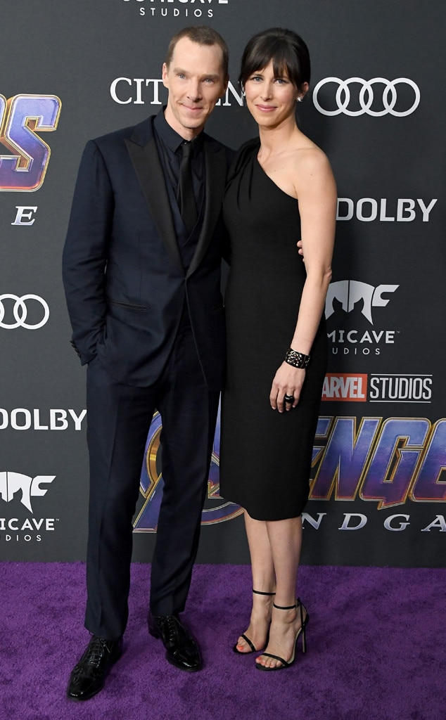 Benedict Cumberbatch & Sophie Hunter -  The couple steps out for a night to remember.