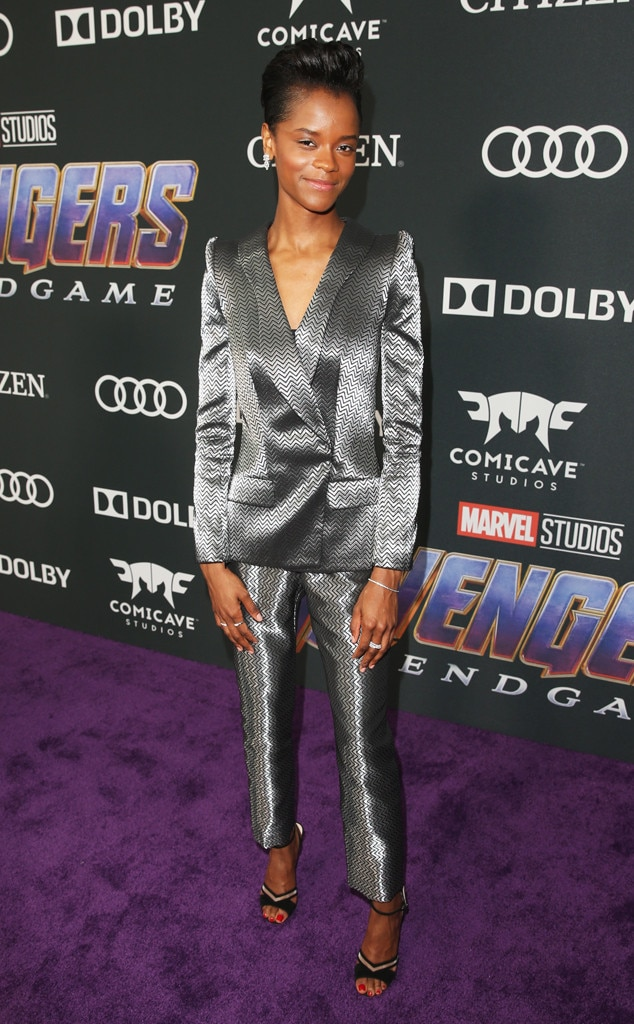 Letitia Wright -  Stunning in silver!