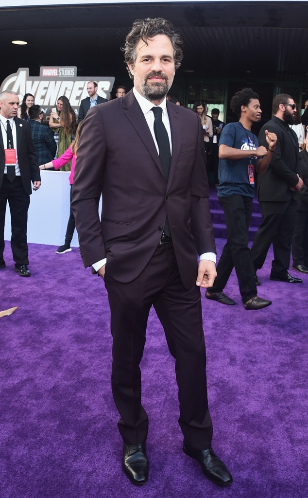 Mark Ruffalo -  Hulk looks hunky in a burgundy suit with a black tie.
