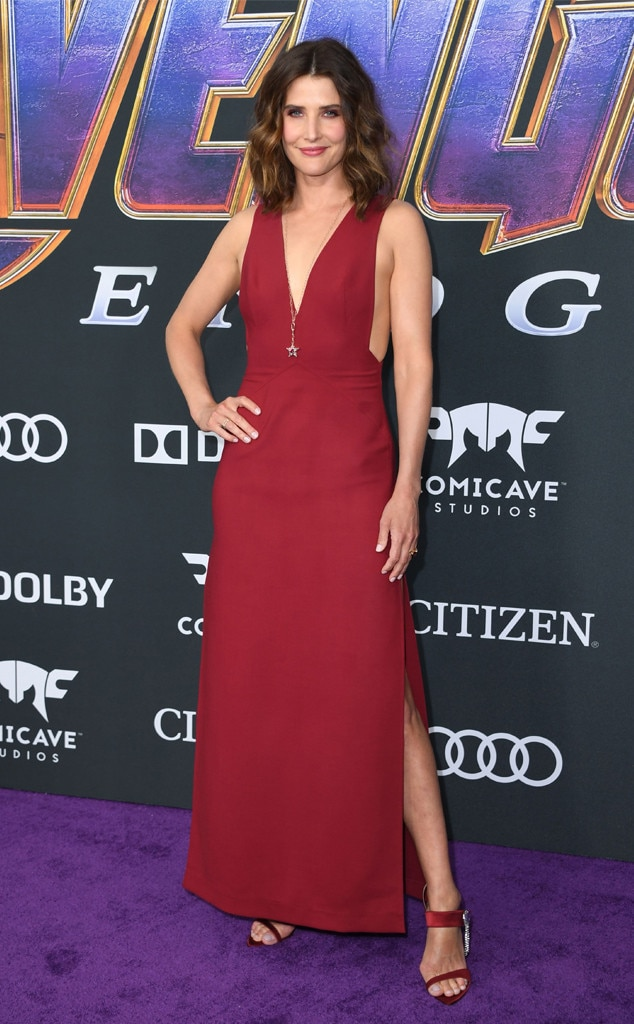 Cobie Smulders -  The Maria Hill actress looks red hot in her strapless red dress with matching shoes at the Avengers: Endgame  premiere in Los Angeles.