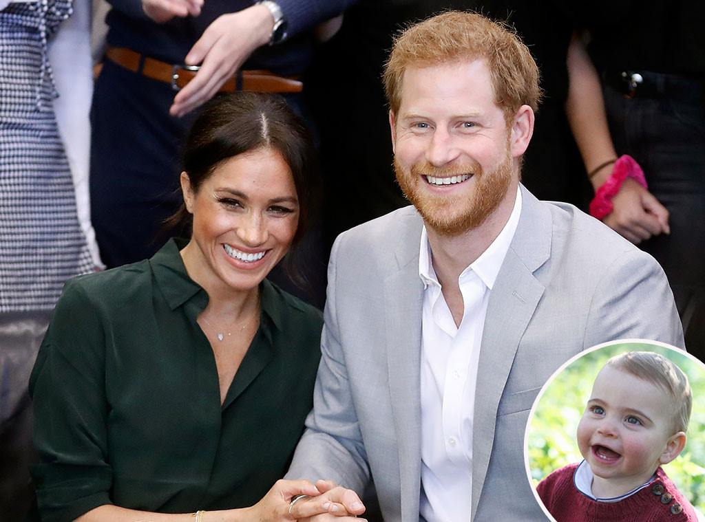 Prince Louis, Prince Harry, Meghan Markle, Inset