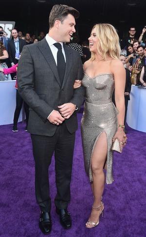 Colin Jost, Scarlett Johansson, Avengers: Endgame Premiere