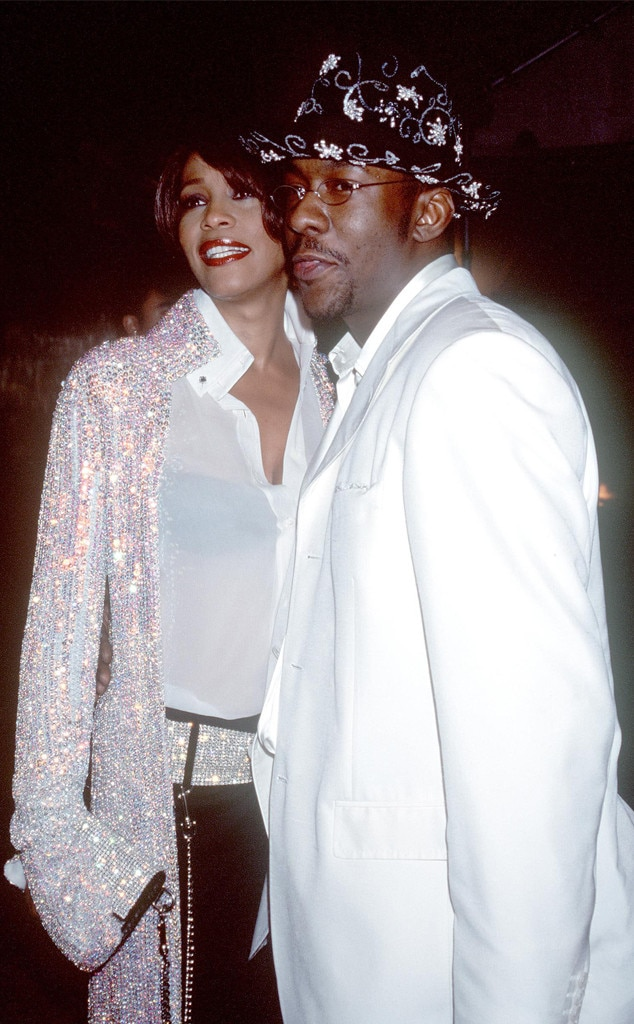 Whitney Houston and Bobby Brown -  The late singer and her-then husband make it a date night.