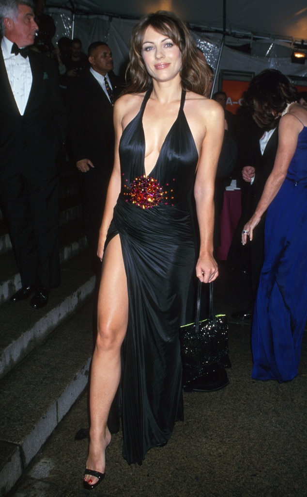 Elizabeth Hurley -  Liz channeled Angelina Jolie  before that was a thing.