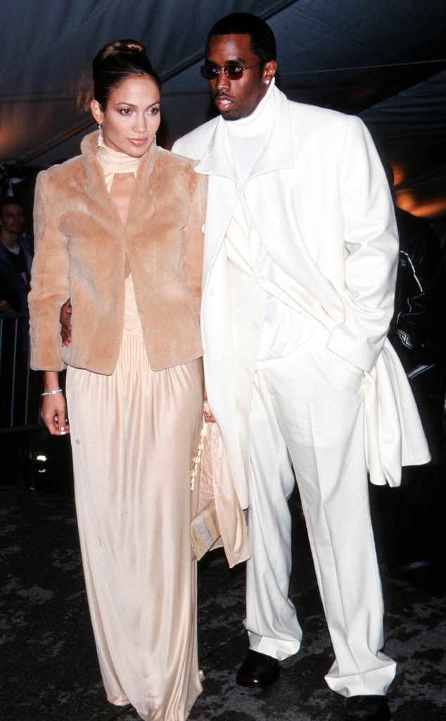"""Jennifer Lopez and Sean """"Diddy"""" Combs -  The singer and actress and her then-boyfriend make it a date night."""