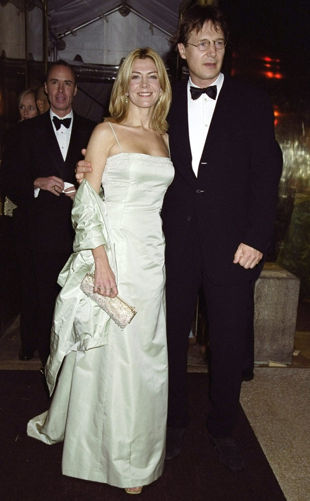 Natasha Richardson and Liam Neeson -  The actor appears with his wife, a decade before her death.