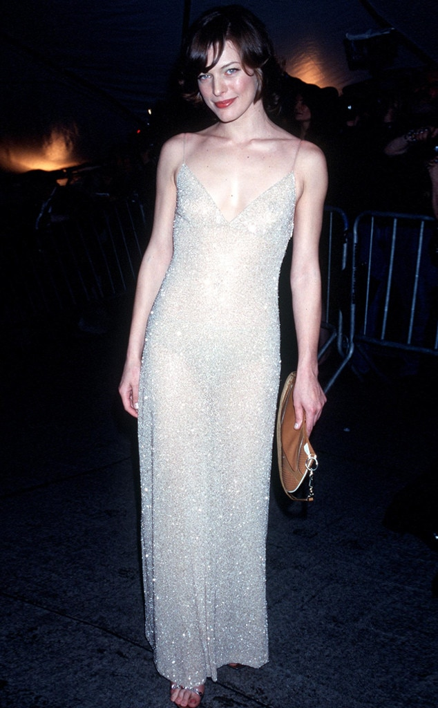 Milla Jovovich -  The actress showcases adaring look.