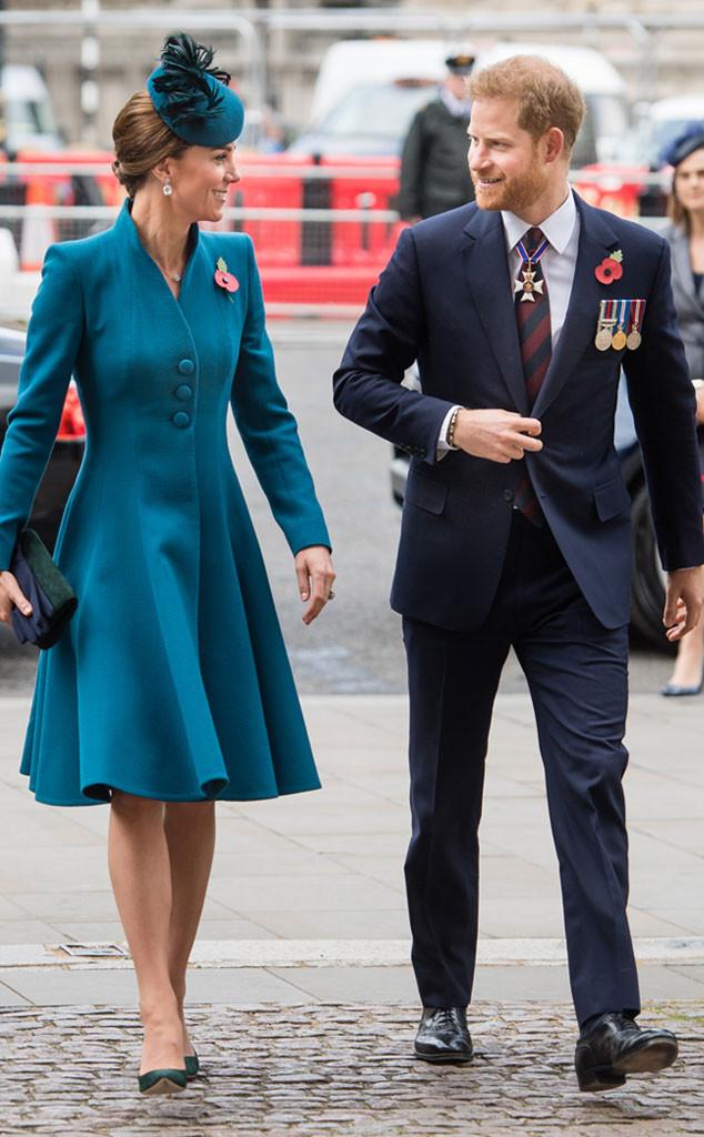 Kate Middleton, Duchess of Cambridge, Prince Harry, ANZAC Day Service