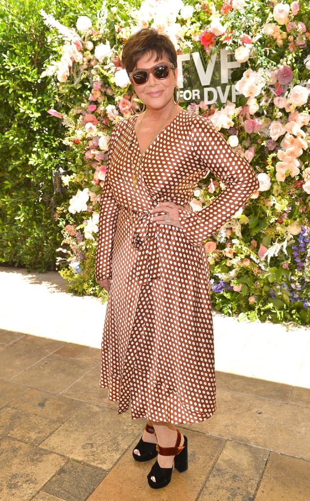 Spring Fling -  Kris Jenner looked every bit ready for spring as she attended Talita von Furstenberg's first collection for DVF at Chateau Marmont.