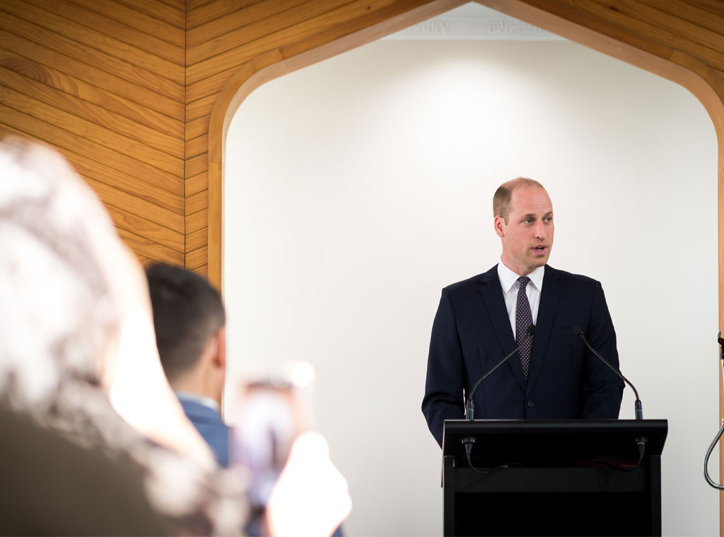 Prince William, Speech