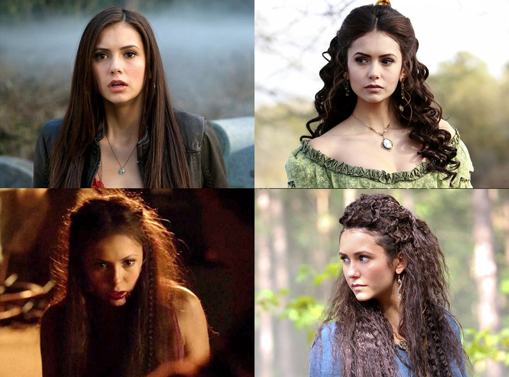Nina Dobrev on  The Vampire Diaries  -  Elena Gilbert was from a long line of doppelgangers, so it was only natural that Dobrev had a lot of parts to play. Elena and the much more evil Katherine got the most screentime, but Tatia and Amara were memorable too!