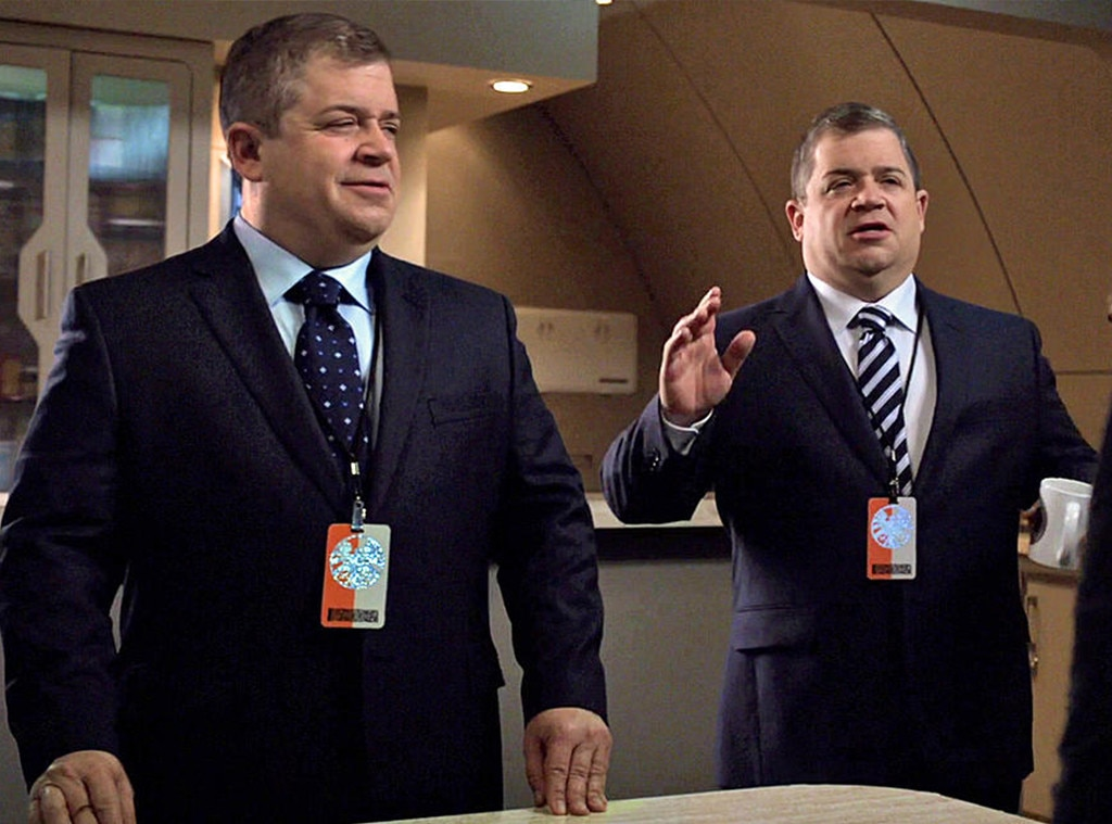 Patton Oswalt on  Agents of SHIELD  -  Oswalt played all of the Koenigs, the quadruplet SHIELD agents who were long thought to be robots, and turned out to just be brothers.