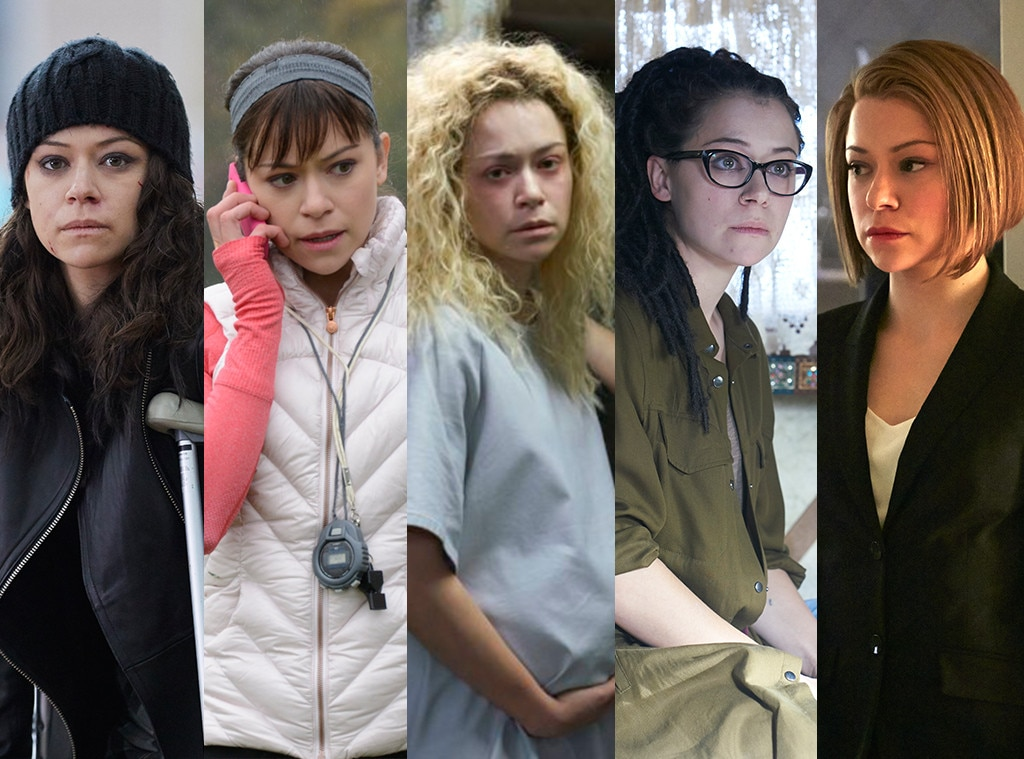 Tatiana Maslany on  Orphan Black  -  Maslany should teach classes on acting opposite yourself. She played, among others, Sarah, Cosima, Helena, Alison, and Rachel on a regular basis on the BBC America show  Orphan Black  and deserved multiple awards for pretty much every episode.