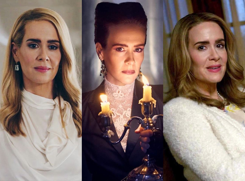 Sarah Paulson on  American Horror Story  -  Paulson has played many, many characters over eight seasons of  AHS , but  Apocalypse  saw her playing 3 at once: Ms. Venable, Billie Dean Howard, and the iconic supreme Cordelia.