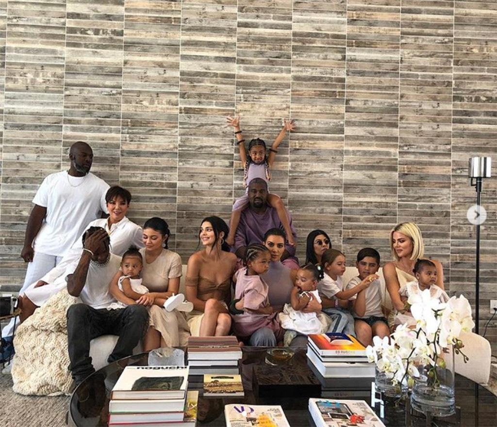 Kendall Jenner, Stormi Webster, North West, Kim Kardashian, Kourtney Kardashian, Kanye West, True Thompson, Reign Disick, Chicago West