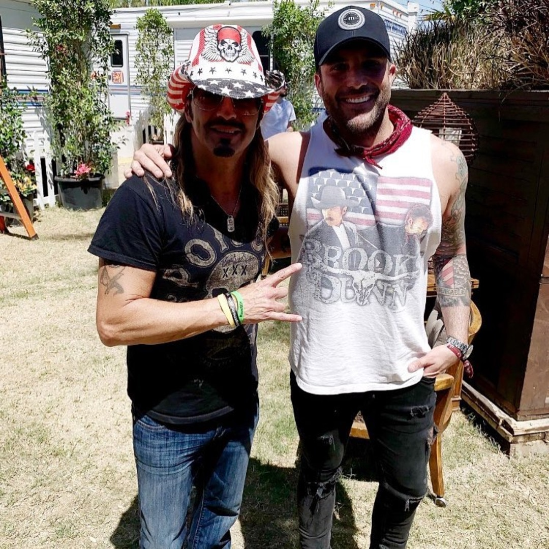 Bret Michaels & Tyler Rich -  The rock legend and country music performer spend time backstage before hitting the stage on Day 1.