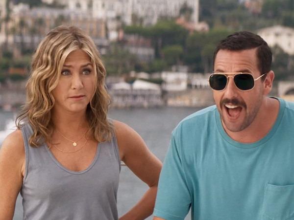 Watch Adam Sandler and Jennifer Aniston Run for Their Lives in <i>Murder Mystery</i> Trailer
