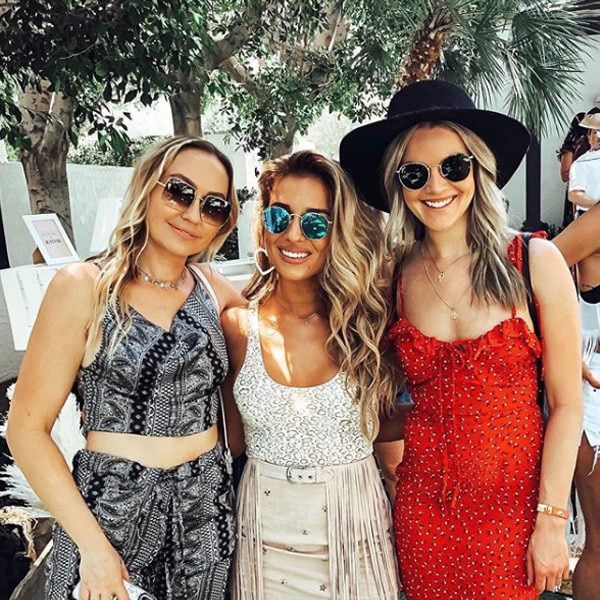 """Brandi Cyrus, Jessie James Decker & NIkki Ferrell -  """"Felt cute but there's a lot of sweat in a lot of places rn might delete l8r,"""" Brandi joked on  Instagram  after attending JustFab's Boots & Brunch event with Jessie James Decker and Nikki Ferrell."""