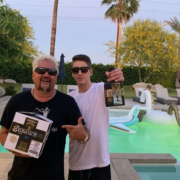 """Guy Fieri -  """"Hittin #stagecoach2019 with a case of #SantoMezquila with my boy @hunterfieri,"""" the Food Network star shared on  Instagram . """"#realdeal #smokehouse #unicorn."""""""