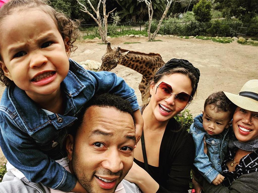 Chrissy Teigen, John Legend, Kids, Luna, Miles