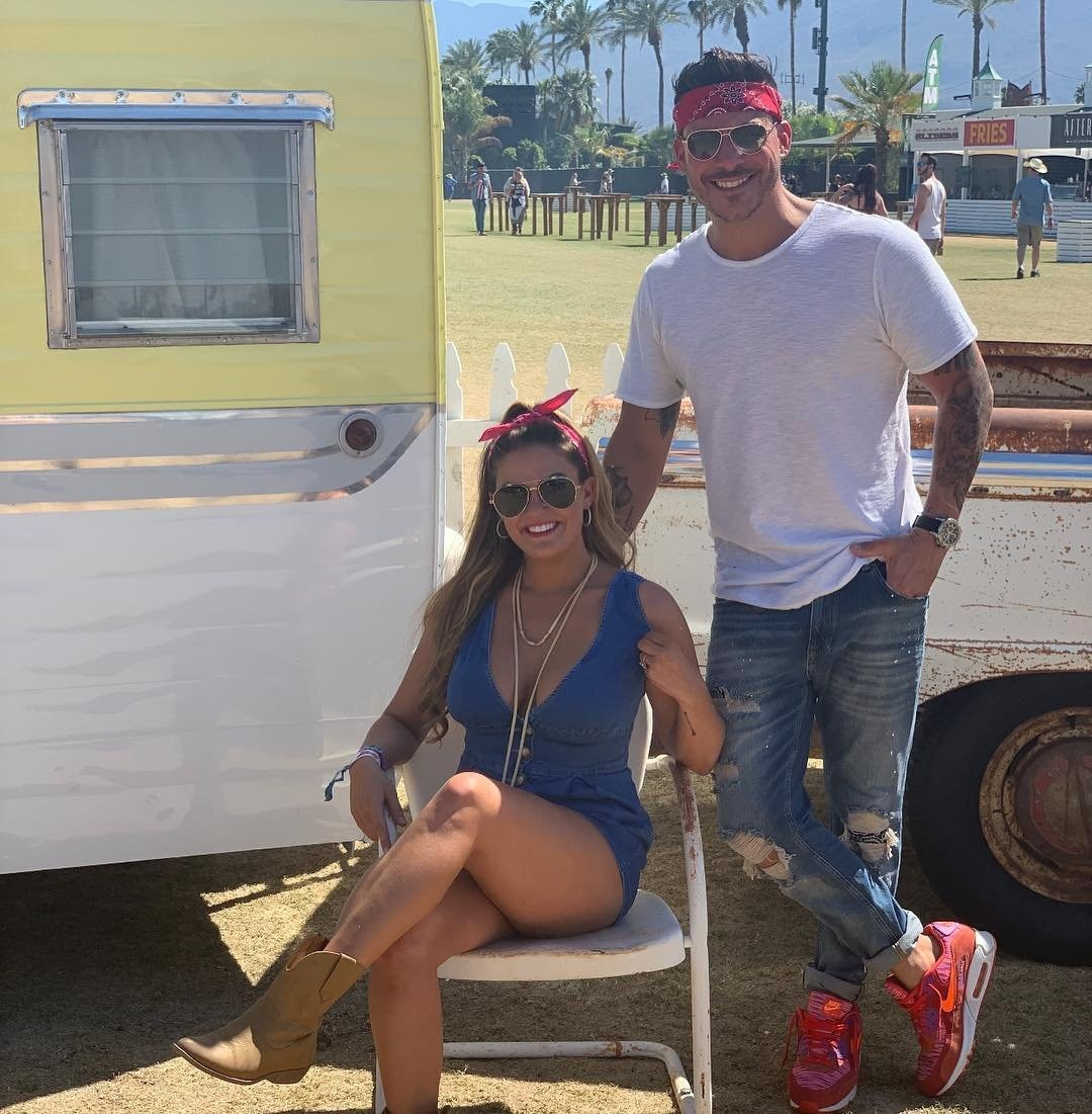 """Jax Taylor & Britany Cartwright -  """" #stagecoach2019 (we are in competition with @andrewdeast and @shawnjohnson so be ready for boring couple shots),"""" the Vanderpump Rules star joked on  Instagram . """"#Jaxandbrittany."""""""