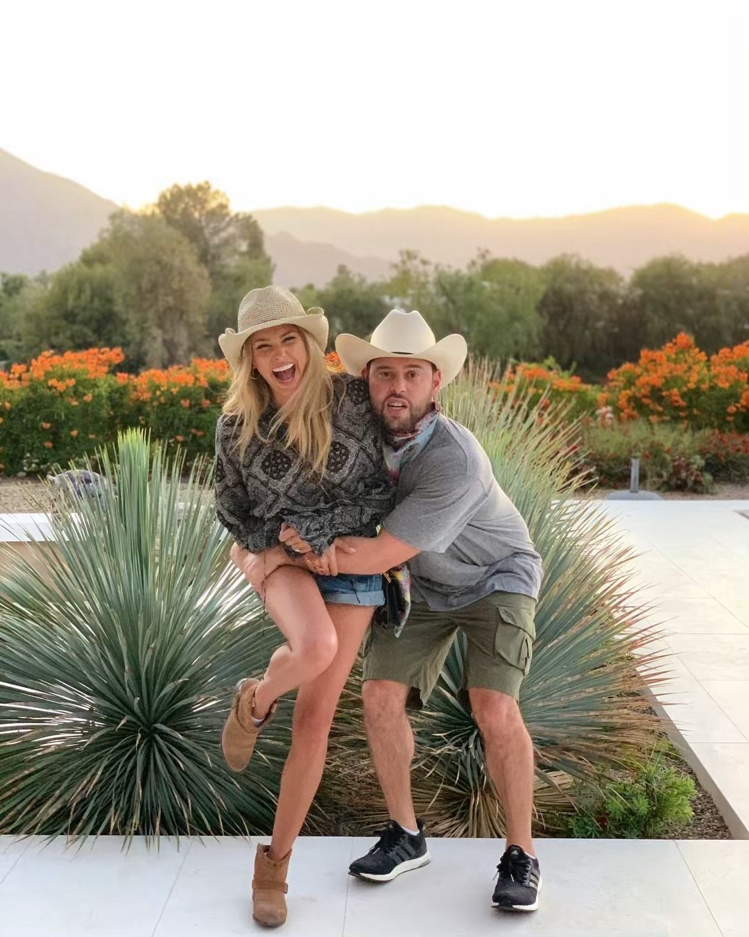 """Scotter & Yael Cohen Braun -  """" Send help ,"""" the happy couple joked on Instagram in their country western attire."""