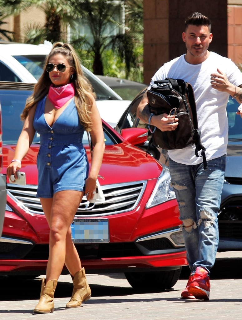 Brittany Cartwright and Jax Taylor -  The Vanderpump Rules  couple are spotted on the festival grounds.