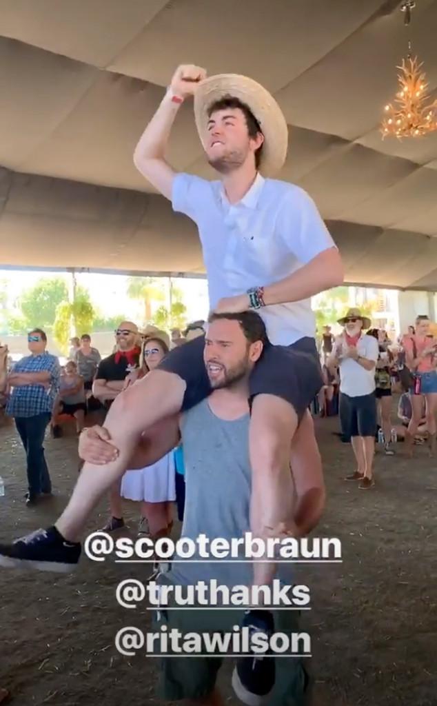 Truman Hanks, Scooter Braun, Rita Wilson, Stagecoach 2019